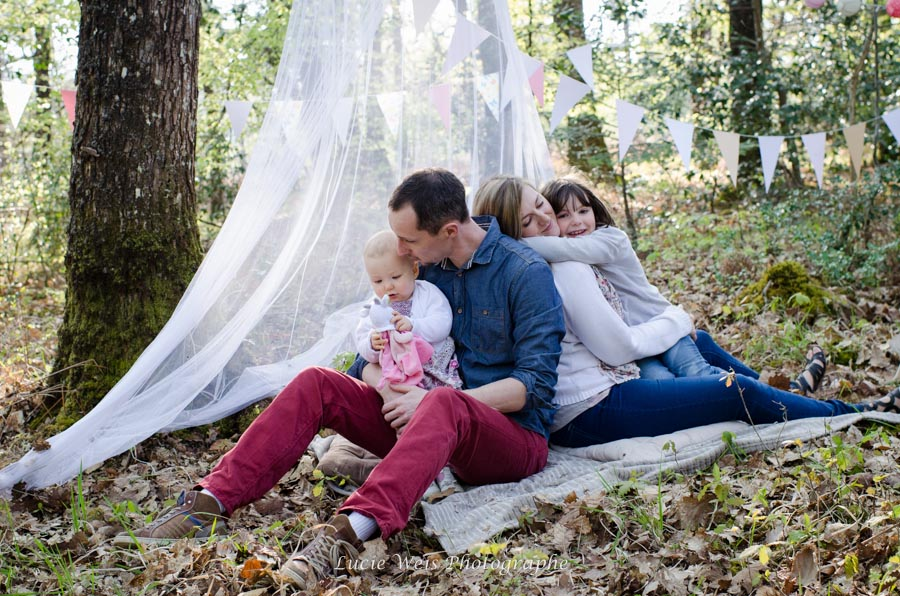 Séance photo famille en forët de Liffré