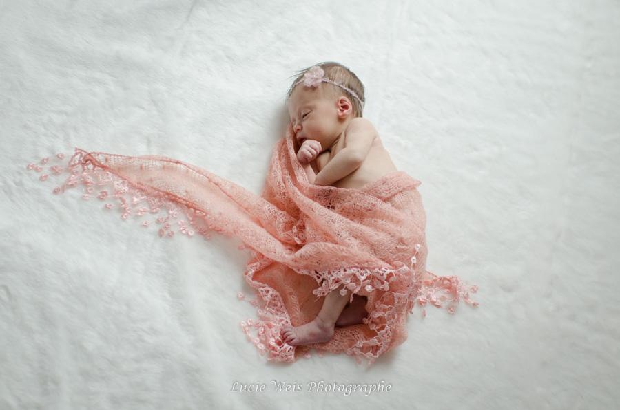 Séance photo bébé fille princesse à Rennes